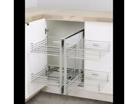 Kitchen Storage Corner pull out baskets .