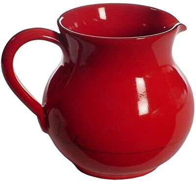 """Mamma Ro Classic Red Collection """"Fat"""" Pitcher - Vintage, Never Been Used"""