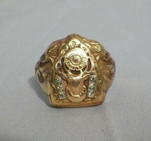10K Gold Elks Lodge Ring 7.52 grams Size 11-1/2 Gothic
