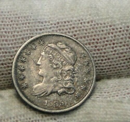 1835 Capped Bust Half Dime H10C, Nice Coin, Free Shipping (9302)