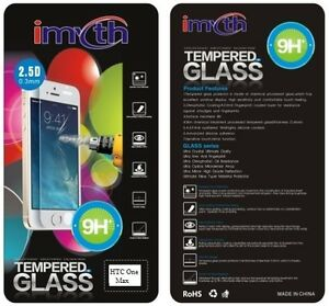 100-autentico-in-vetro-temperato-Pellicola-Screen-Protector-Cover-per-HTC-One-Max-amp-Pacchetto
