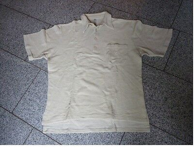 Baumwolle Gewebt Shirt (Venturo Polo Shirt grob Gewebt Baumwolle beige Gr. 50)