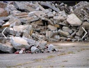 Wanted: Free construction rubble concrete fill