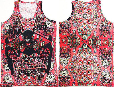 Vivienne Westwood Man Japan Ltd Vest Tank Top Digital Dynasty Lag Print -Size L