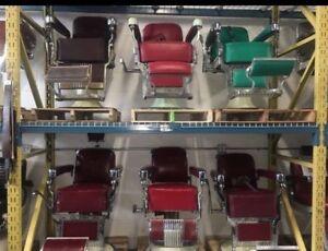 Antique Barber Chairs (Belmont, Koken, Theo, Paidar)