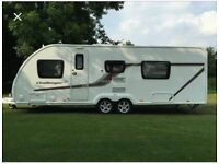 Swift challenger 630 caravan 2015. Fixed bed, end washroom, plus all accessories inc. awnings.
