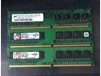 3x 512mb DDR2 Ram