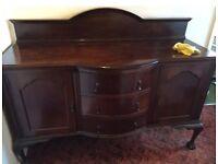 Oak antique sideboard