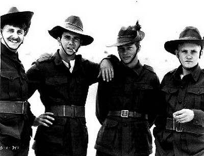 Gallipoli Four Men posed in Cowboy Outfits in Black and White High Quality Photo](Cowboy Outfits For Men)