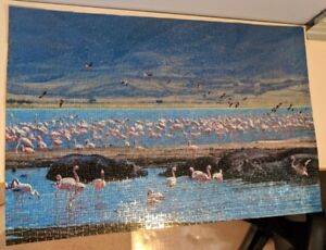 Puzzel of Painting of Flamingos (South Africa)