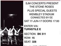 2x stone roses tickets 17th June Wembley