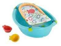 Baby bath tub, *Nearly New*, Fisher Price, with new baby harness