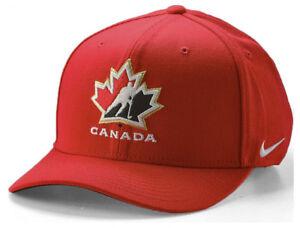 NEUF Nike Dri-fit Team Canada Hockey Cap chapeau