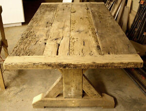 Gray Reclaimed Wood Tables with Smooth, Durable Finishing Oakville / Halton Region Toronto (GTA) image 10