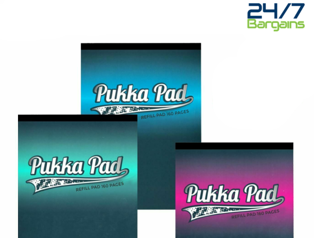 Pukka Pad A4 Refill Blue 160 80gsm high quality paper