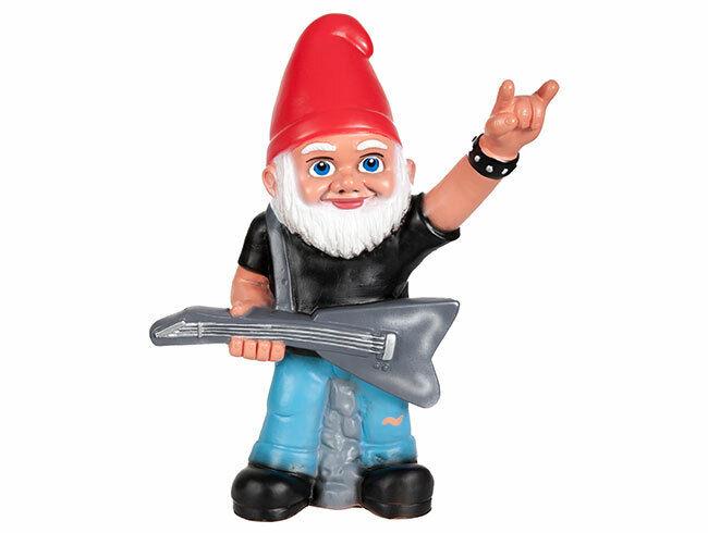 Gartenzwerg Rocker mit Gitarre - Heavy Metal Zwerg - Cooler Look