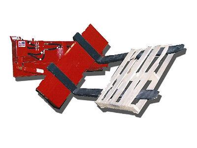 Skid Steer Rotating Pallet Forks - 48 Tines - 127 Rotation - 6k Capacity