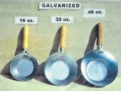 Galvanized Steel Bucket (GALVANIZED STEEL MASONRY BUCKET SCOOP TRANSFER MORTAR PLASTER STUCCO WOOD)
