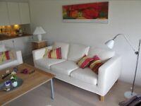 ( sofa covers only) Ikea Karlanda Lindris, White, 3 Seater Sofa Covers