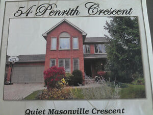 4 bedroom family house in quiet area, Walk to UWO and Masonville