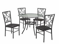 BLACK FRIDAY DOOR CRASHER BRAND NEW GLASS DINING TABLE & 4 CHAIR