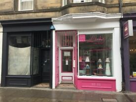Small shop in Stockbridge/Canonmills available to rent (Shop painted black)