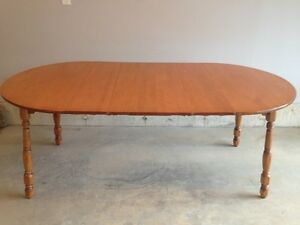 6' Solid Maple Table with Leaves $75