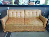 Vintage Orange Sofa Bed - Delivery Available