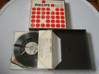 TWO PHILLIPS DP15 - 5 inch DOUBLE PLAY REEL TAPE in original boxes-2 LOW NOISE