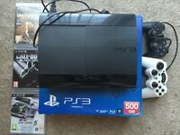 Sony PlayStation 3 - Super Slim 500GB & Games. Excellent Condition!!