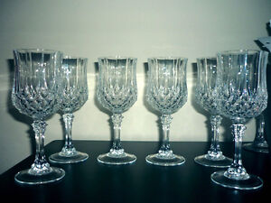 2 sets of Crystal Glasses ... different heights ... NEW Cambridge Kitchener Area image 3