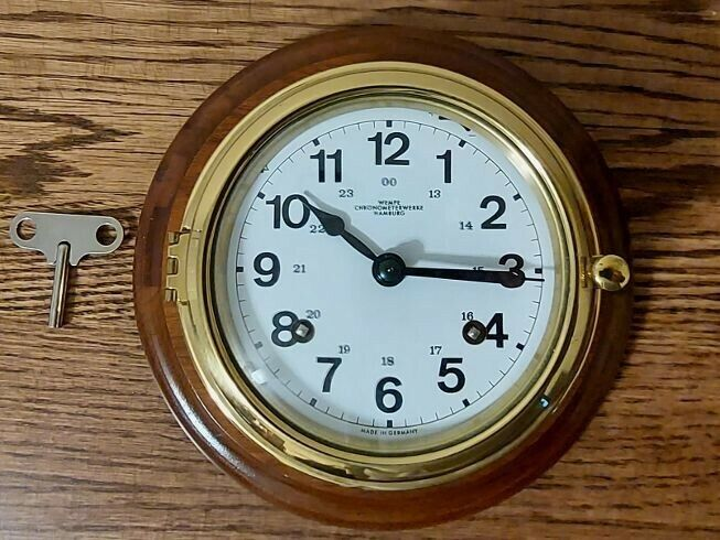 Wempe Chronometerwerke Hamburg Maritime Clock:. Never used Excellent