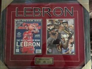 LEBRON JAMES Autographed Cleveland Cavaliers Basketball Frame