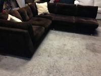 Corduroy SECTIONAL couch   -  (DELIVERY)