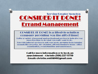 Consider It Done! Errand Management... giving you more time