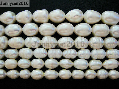 Natural Freshwater White Pearl Oval Rice Beads 15'' 6mm 7mm 8mm 9mm 10mm 11mm 6 Mm White Rice
