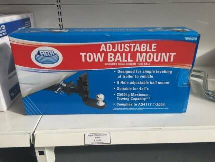 Adjustable Tow Ball Mount with 50mm Chrome Towball