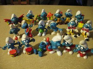 Very Rare Vintage Collectible Smurf Figurines & Smurf Memorabila