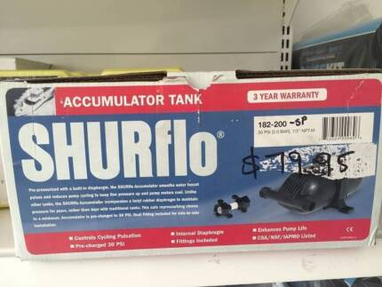 SHURflo accumulator tank pump