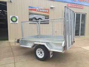 7x4 Caged Trailer with DROP DOWN RAMP FULLY GALVANISED Para Hills West Salisbury Area Preview