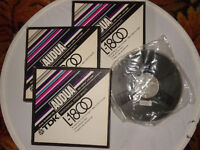 Three TDK AUDUA - 7 inch plastic reels and Tape in original boxes-3,