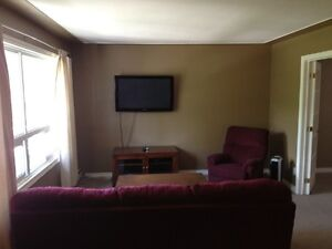 Bright Clean Large top floor Furnished unit available Dec 25th