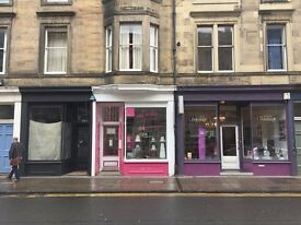 Small shop to let in desirable location in Stockbridge / Canonmills area. Available from 1st May