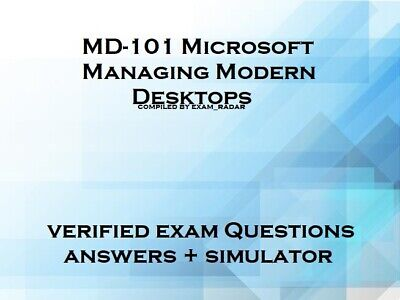 MD-101 verified practice exam questions answers and simulator