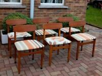 6 Vintage/Retro dining chairs