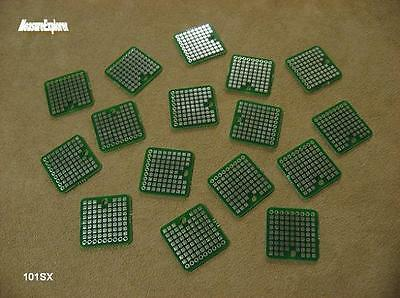 "101SX 2 layer 1""x1""plated SMD thru-hole circuit proto prototype PCB board"
