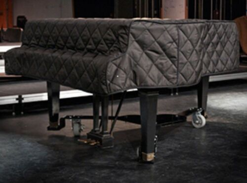 Black Quilted Grand Piano Cover - For Baby Grand Pianos between 5