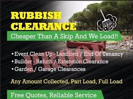 rubbish removal cheaper than a skip prices from £10 call today