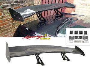 57 Inch Universal GT 3D Carbon Fiber Rear Racing Trunk Spoiler
