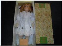 Leonardo Collection porcelain Doll called Yasmin